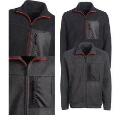 Mens Fleece Jacket Full Zip Up Pocket Work Outdoor Warm Coat Polar Anti Pill