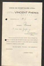 """HAGUENAU (67) USINE de COMPTEUR à EAU """"VINCENT Freres"""" en 1928"""