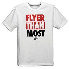 "Nike ""Flyer Than Most"" T-Shirt White/Black/U Red Men's Medium Large XL BNWT!"