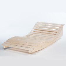 Schaukelliege flach Relaxliege Gartenliege Poolliege massive Holzliege 42mm Holz