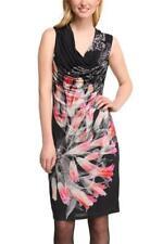 Desigual Frio Dress S-XXL 10-18 RRP£99 Black Cowl Neck Hourglass Draped Floral