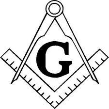 Masonic emblem decal  vinyl decal/sticker truck window Freemason square compass