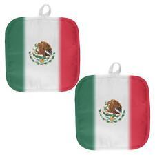 Cinco De Mayo Mexican Flag All Over Pot Holder (Set of 2)