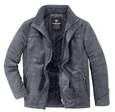 Redpoint Mens Tod Micro Suede Padded Jacket in Steel Grey