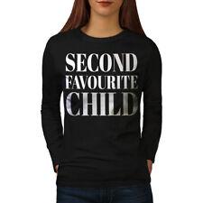 Segundo hijo favorito para mujeres de manga larga nuevo Camiseta | wellcoda