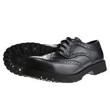 Boots and Braces 4-Loch Budapester schwarz Rangers Schuhe Leder Stahlkappe Neu