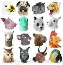 LATEX ANIMAL MASK Full Head Cosplay Fancy Dress Halloween Carnival [CHOOSE]