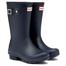 Authentic Hunter Original Navy Kids Wellington Boots Rubber Rain Wellies *NIB*