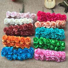 12Pcs Artificial Silk Small Rose Fake Flower Heads Lot DIY Craft Wedding Decor C