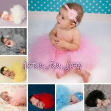 Cute Newborn Toddler Baby Girl Tutu Skirt&Headband Photo Prop Costume Outfit JJ