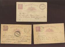 SWITZERLAND 1876-1902 STATIONERY CARDS 10c USED 9 ITEMS