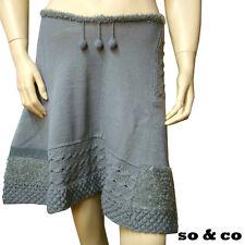 SO & CO Jupe fantaisie lainage grise femme
