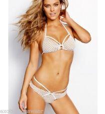 Nude white netted bikini S M L NWOT