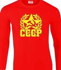 Soviet Union Long Sleeve T-Shirt Retro CCCP Russia Russian Communist Cold War