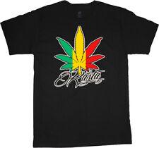 Rasta pot leaf funny shirt weed cannabis marijuana decal men's t-shirt tee