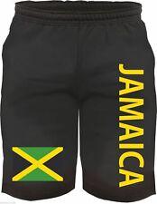 JAMAICA Bermuda Shorts - Flagge Druck - M bis XXL - Schwarz - jamaika kurze hose