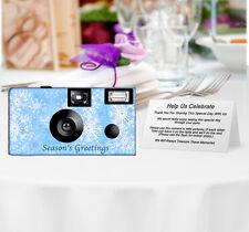 10 Pack Snowflakes Disposable Cameras, Christmas, Holiday, Wedding Camera
