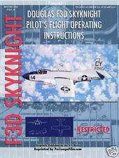 DOUGLAS AIRCRAFT F3D SKYKNIGHT PILOT'S Manual BOOK