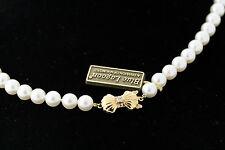 Mikimoto Blue Lagoon 5.5-6.0mm Pearl Necklace 16 Inch 14k Gold Diamond Clasp