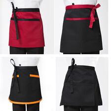 Half Length Short Apron Women / Men Kitchen Cooking Waitress Waist Aprons