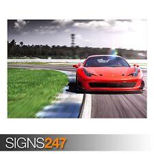 2016 Racing uno Ferrari 458 (AA125) cartel de auto-arte cartel impresión A0 A1 A2 A3
