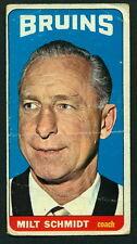 1964 65 TOPPS TALL BOYS HOCKEY 70 MILT SCHMIDT BOSTON BRUINS CARD