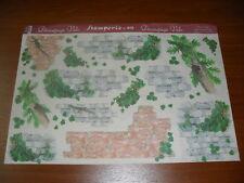 papier voile pour découpage technique serviette (murs+lezards) (48X33,5cm)