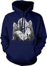 Marilyn Monroe Angel Wings - Sexy Poker Player Cards Mens Hoodie Sweatshirt