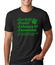 JACK JIM JOHNNY JAMESON Fathers of St.Patrick's Day Irish Clover Whiskey Shirt