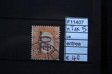 FRANCOBOLLI COLONIE ERITREA USATI TAX N°5 (F11407)