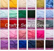 "100% Cotton Poplin Fabric - Plain - 45"" width - 0001"