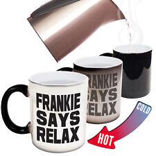 Funny Mugs Frankie Says Relax Distressed Print Retro Vintage 80s MAGIC MUG