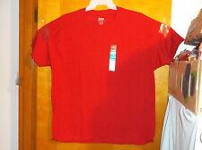 BRAND NEW MEN'S HANES COMFORT BLEND CREW NECK  S/S  T' SHIRT..in SALSA RED