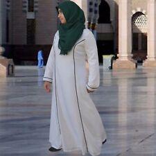 US SELLER HAYAA White Viscose Cotton Loose-Cut Abaya Hajj Umrah Sz  52 54 56 58