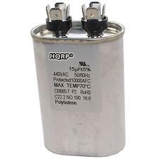 15uf Capacitor AC Electric Motor Run Start HVAC Blower Compressor Furnace CBB65