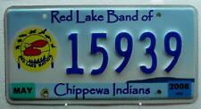 Indianer Nummernschild USA/Red Lake Chippewa Tribe!921.