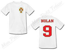 T-shirt Adulte Football Portugal avec Prénom Personnalisé - du S au 2XL