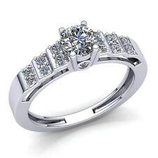 0.5ctw Round Cut Diamond Ladies Bridal Solitaire Engagement Ring 10K Gold