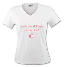 T-shirt Femme Je suis une Maitresse qui déchire - Ecole Maternelle Primaire