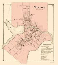 Old City Map - Milton Delaware Landowner - Beers 1868 - 23 x 25.67