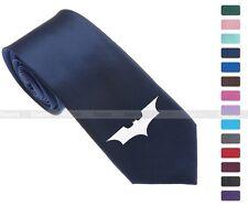 "Cool Batman Logo Skinny Slim Men Woven Silk 2.5"" Tie Necktie K57"