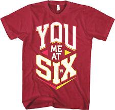 YOU ME AT SIX - Block Logo - T SHIRT S-M-L-XL-2XL Brand New - Official T Shirt