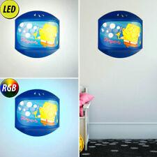 enfants chambre LED mural luminaire modulable Spongebob Nuit Lampe RGB