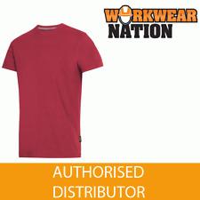 Snickers 2502 Clásico Camiseta Cuello en Pico, 100% Algodón Peinado, Rojo