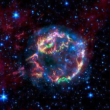 Cassiopeia A Star  Spitzer Hubble JPL NASA space telescope photo PIA01903