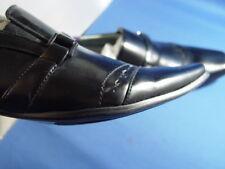 "NIB OTTO ""BELT LOAFERS"" ITALIAN STYLE DRESS SHOES BLACK"