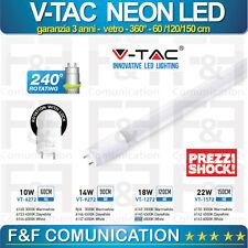 NEON LED APPLIQUE LED T8 360° V-TAC VTAC 60CM 120CM 150CM 220V PRODOTTO GARANTIT