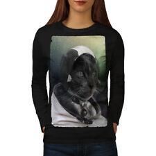 Pilot Animal Space Cat Women Long Sleeve T-shirt NEW | Wellcoda