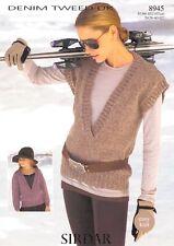 Sirdar Knitting Pattern Denim Tweed DK 8945 9371 9104 9003 9374