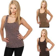 Urban Classics Damen Tank Top T-Shirt Knittermuster Shirts XS S M L XL